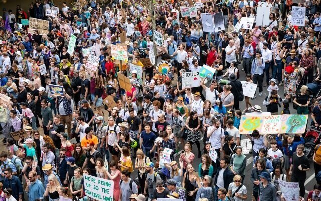 2019 Global Climate Strike, photo credit 350.org