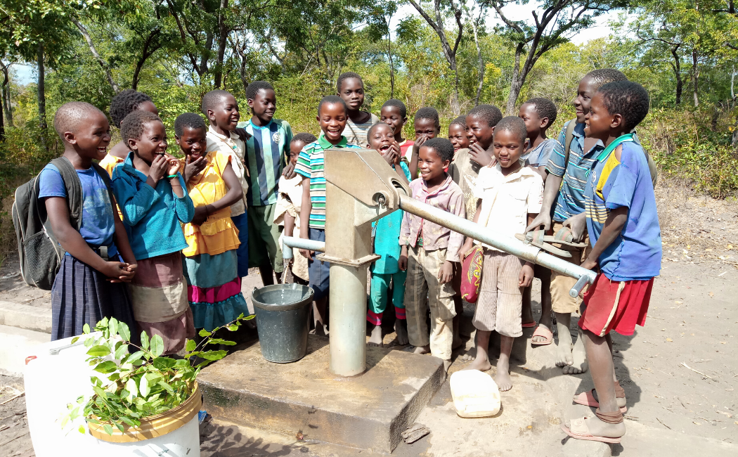 With a safe water point at their school the children of Mapapa will spend less time sick and more time in class.